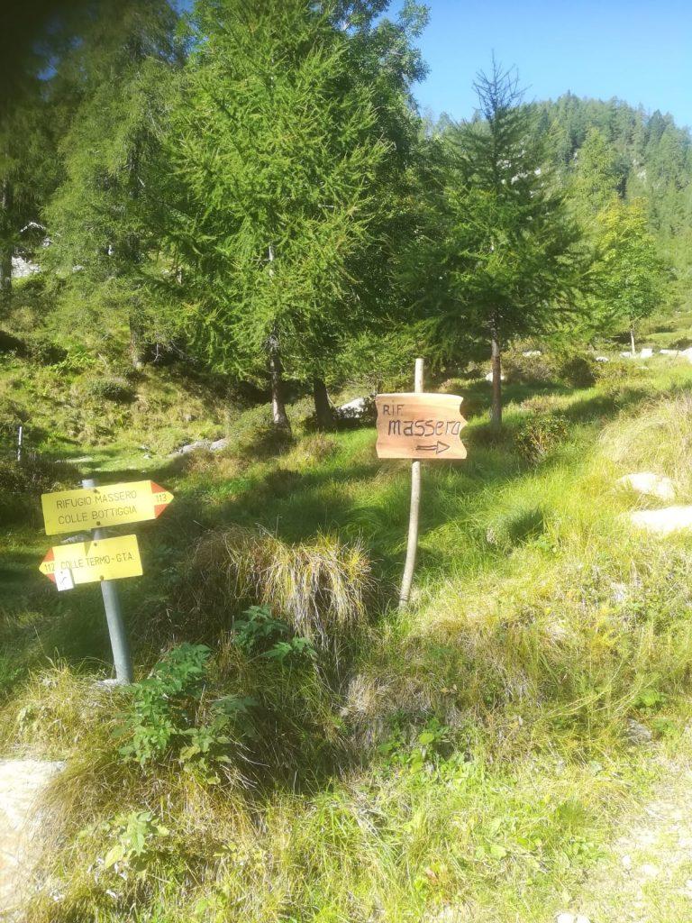 Indicazioni per il Rifugio Massero, in Valsesia