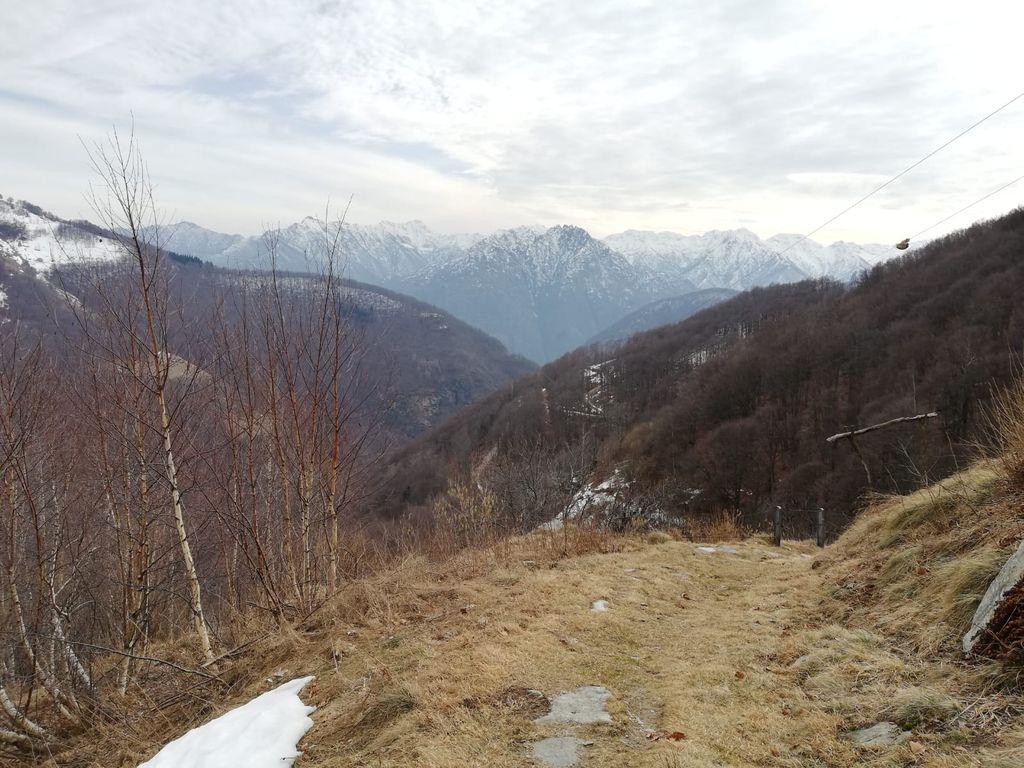percorso per l' Alpe Seccio