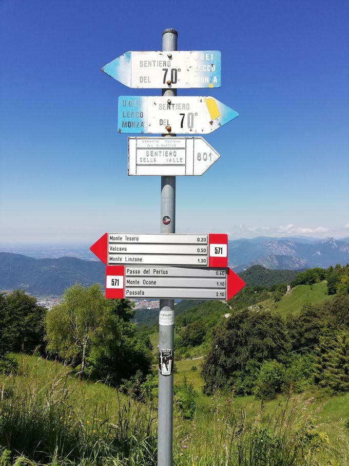 Indicazioni per il Monte Ocone